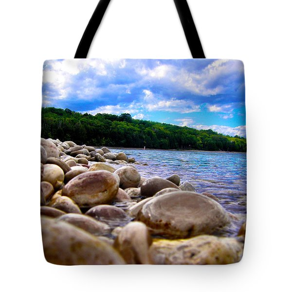Stone Beach Tote Bag