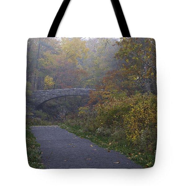 Stone Bridge In Autumn 3 Tote Bag