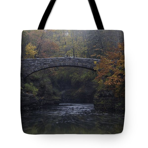 Stone Bridge In Autumn II Tote Bag