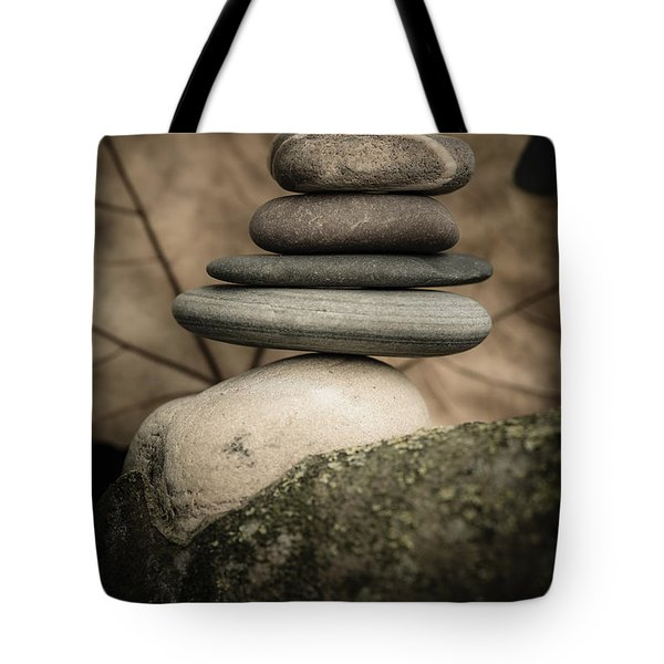 Stone Cairns Iv Tote Bag