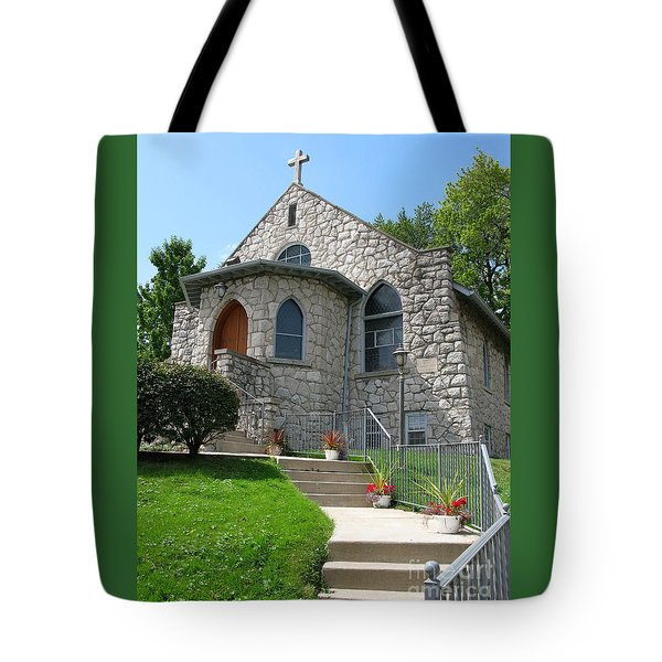 Stone Church Tote Bag by Ann Horn