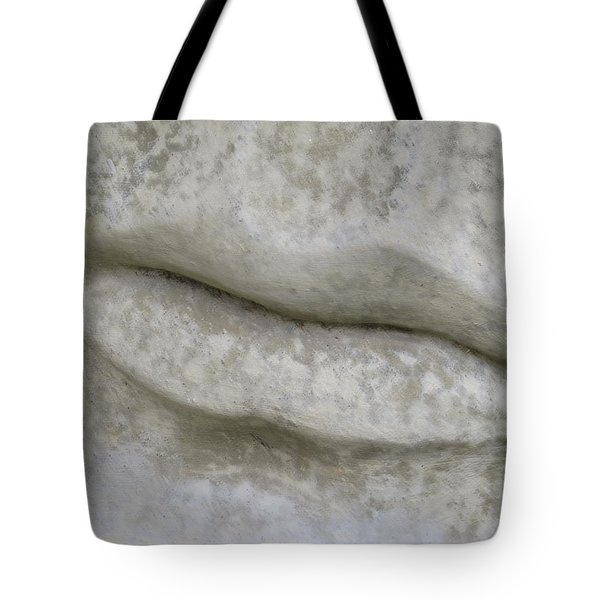 Tote Bag featuring the photograph Stone Cold Lips by Ella Kaye Dickey