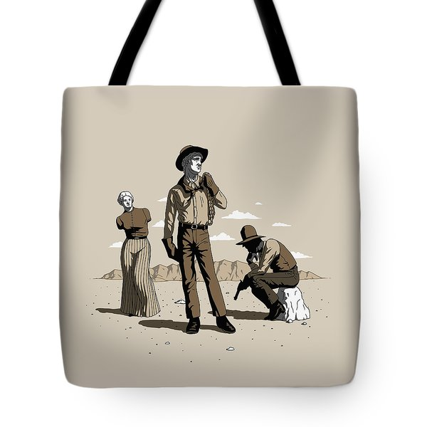 Stone-cold Western Tote Bag