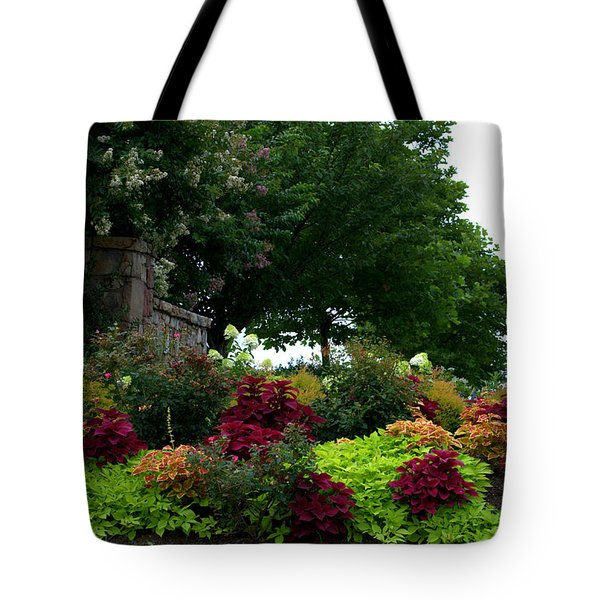 Tote Bag featuring the photograph Stone Entrance by Cathy Shiflett