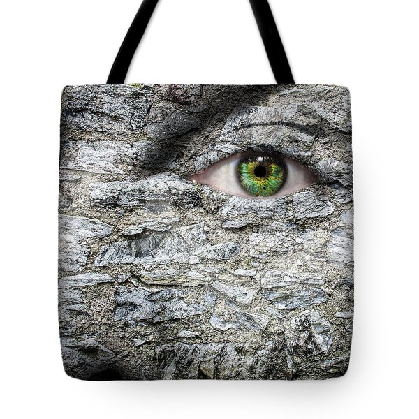 Stone Face Tote Bag