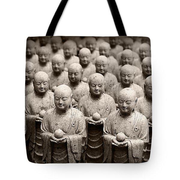 Stone Figures Of Jizo Tote Bag