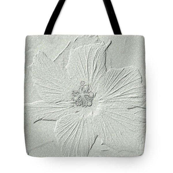Tote Bag featuring the photograph Stone Hibiscus by Oksana Semenchenko