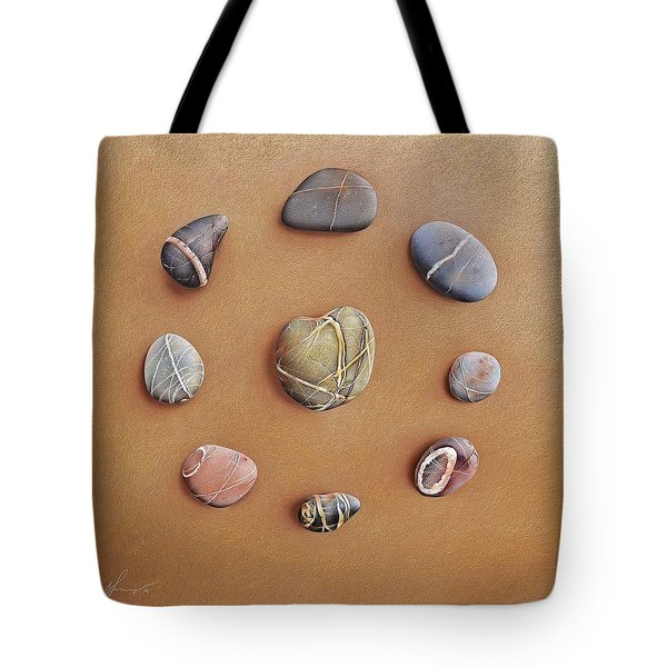 Stone Letters Tote Bag