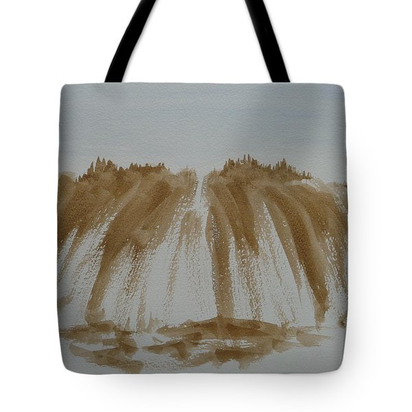 Tote Bag featuring the painting Stone Mountain Sketch by Joel Deutsch