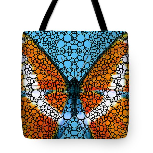 Stone Rock'd Butterfly By Sharon Cummings Tote Bag by Sharon Cummings