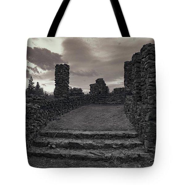 Stone Ruins At Old Liberty Park - Spokane Washington Tote Bag by Daniel Hagerman