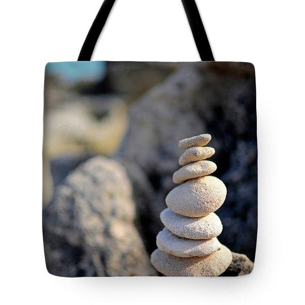 Stone Sculptures In Salinas Beach, Ibiza Tote Bag