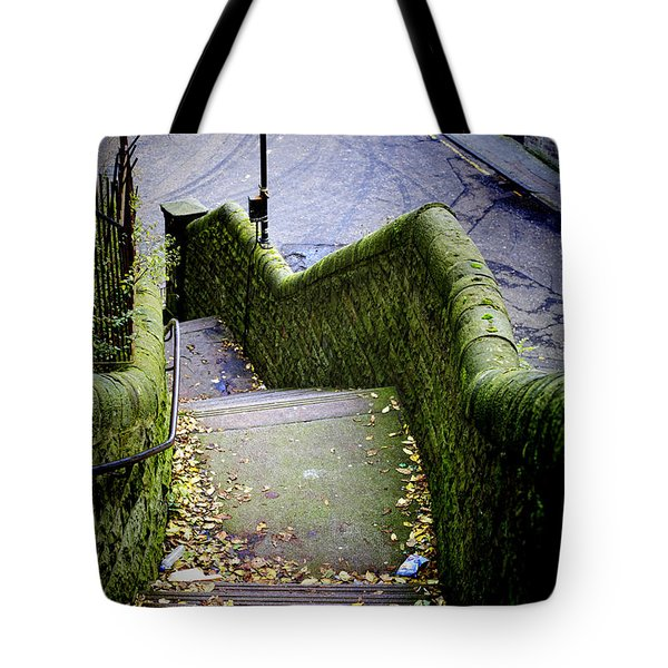 Tote Bag featuring the photograph Stone Staircase by Craig B