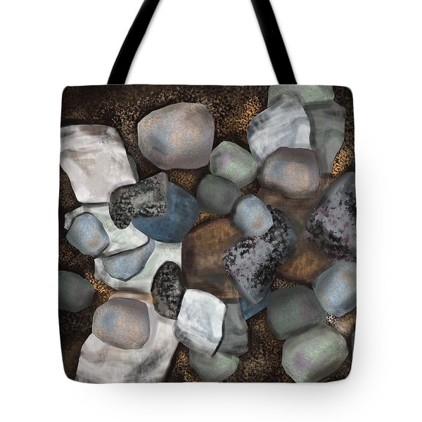 Stone Thoughts Tote Bag by Christine Fournier