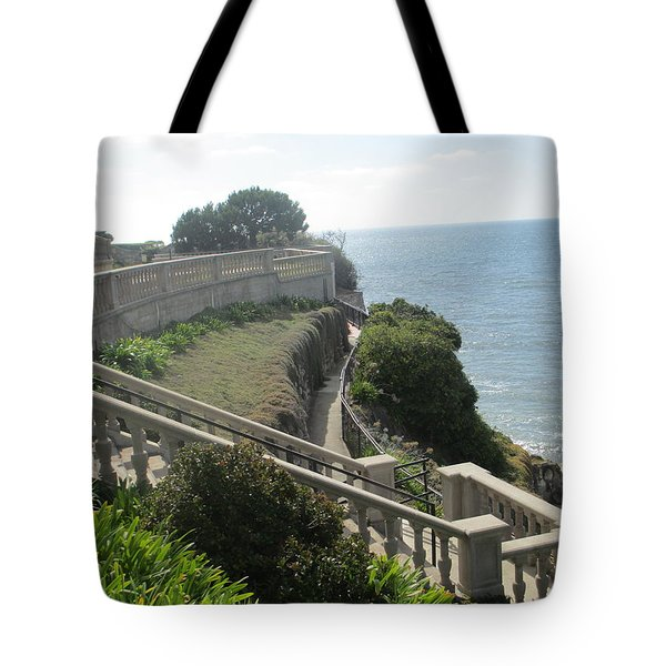 Stone Wall Over The Sea Tote Bag