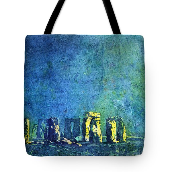 Stonehenge In Moonlight Tote Bag by Ryan Fox