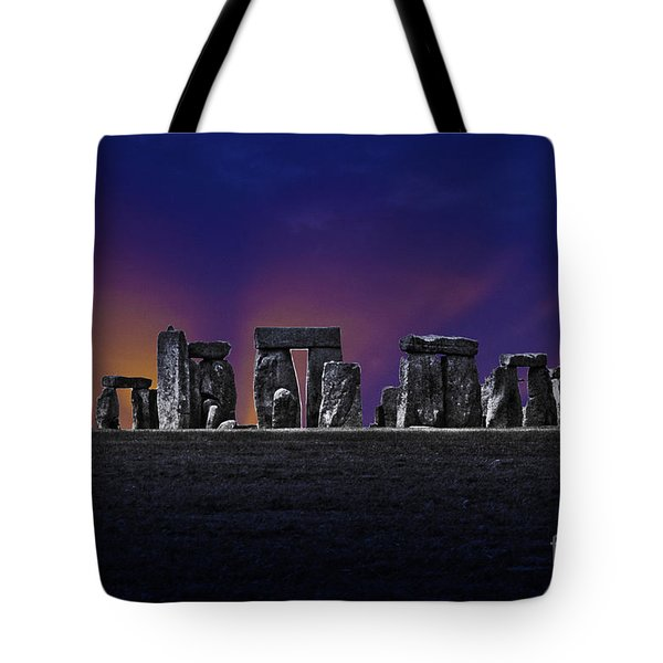 Tote Bag featuring the photograph Stonehenge Looking Moody by Terri Waters