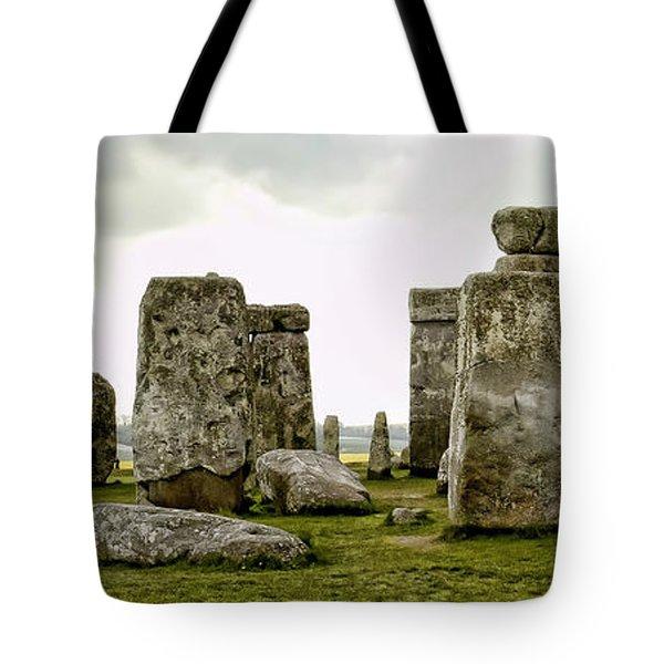 Stonehenge Panorama Tote Bag by Jon Berghoff