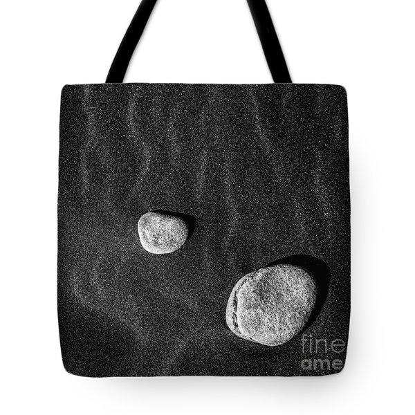 Tote Bag featuring the photograph Stones In The Sand by Gunnar Orn Arnason