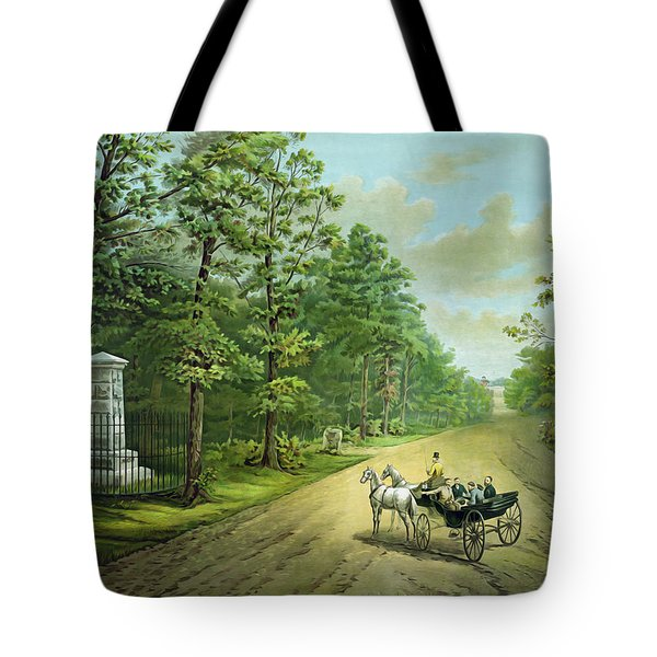 Stonewalls Memorial At Chancellorsville Tote Bag