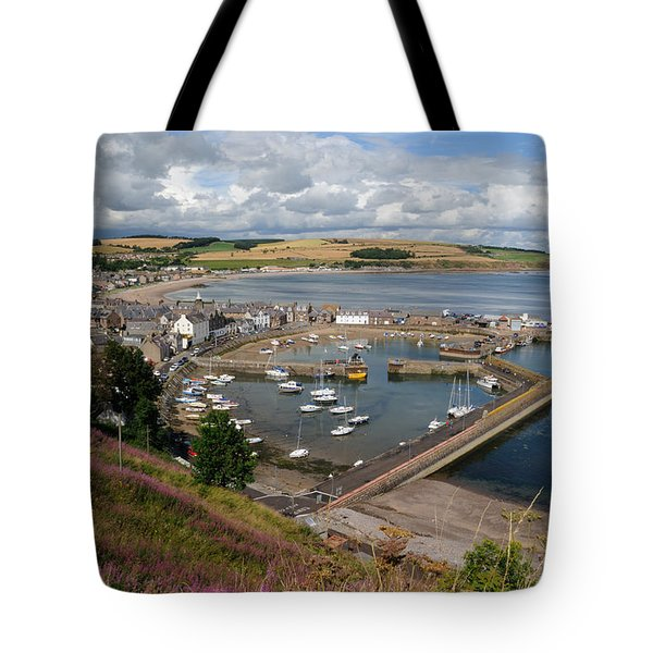 Stonhaven Harbour  Scotland Tote Bag