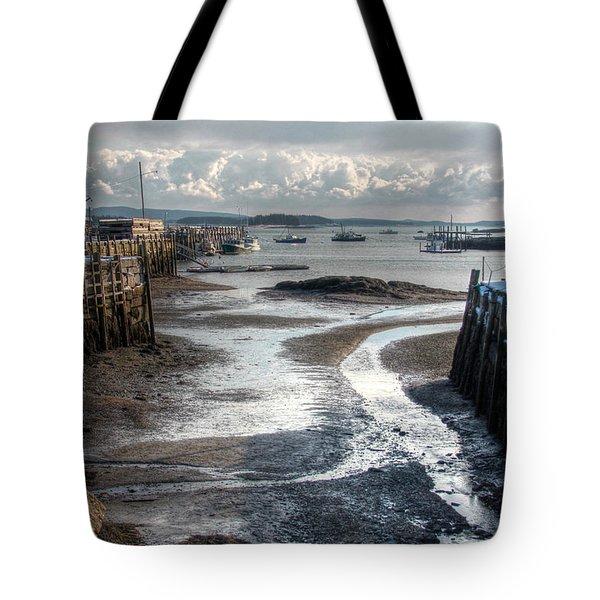 Stonington Low Tide Tote Bag