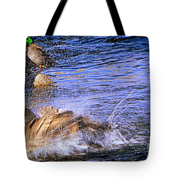 Stop Splashing Tote Bag
