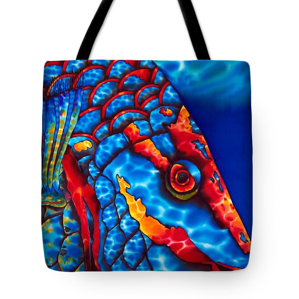 Stoplight Parrotfish Tote Bag by Daniel Jean-Baptiste