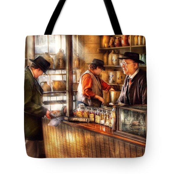 Store - Ah Customers Tote Bag by Mike Savad