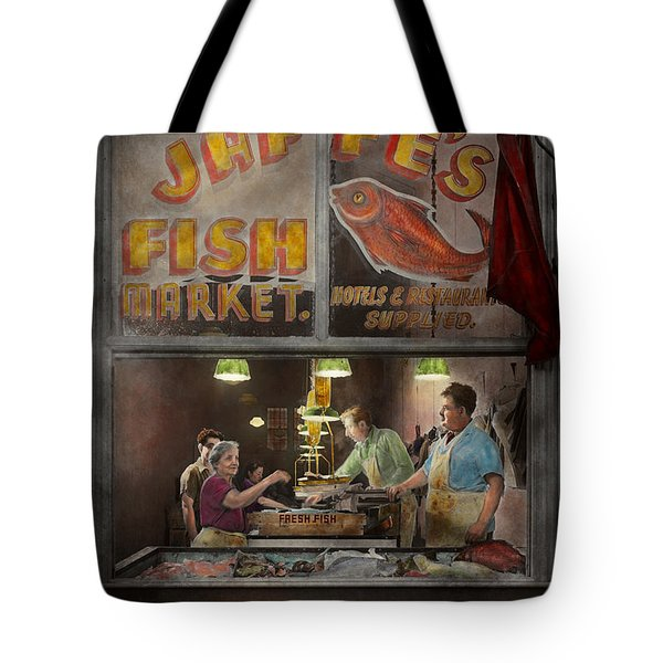 Store - Fish Ny - Jaffe's Fish Market Tote Bag