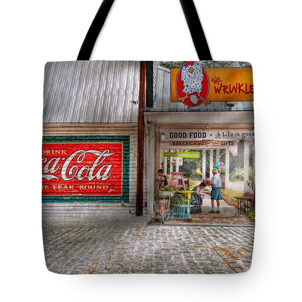 Store Front - Life Is Good Tote Bag by Mike Savad