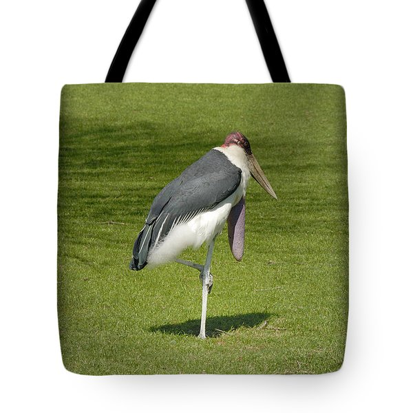 Tote Bag featuring the photograph Stork by Charles Beeler