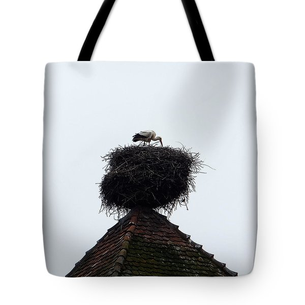 Stork Tote Bag by Marc Philippe Joly