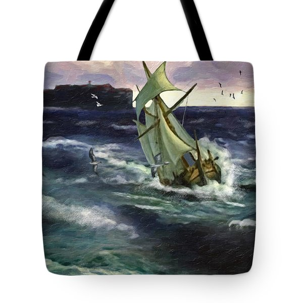 Storm At Dubrovnik Tote Bag