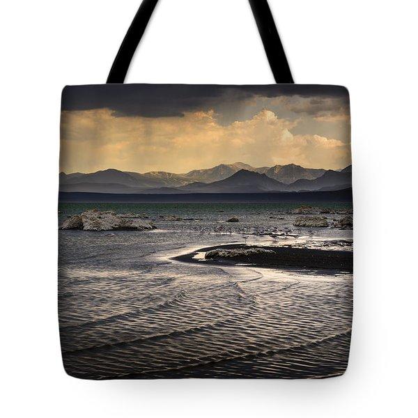 Storm At Mono Lake Tote Bag