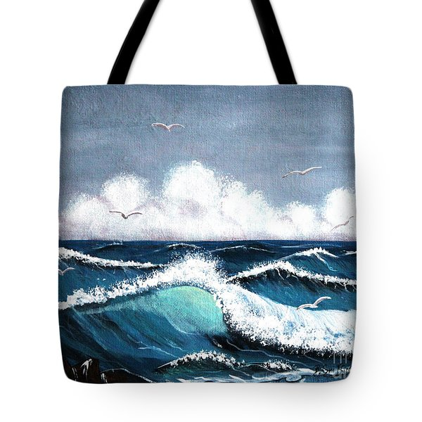 Storm At Sea Tote Bag by Barbara Griffin
