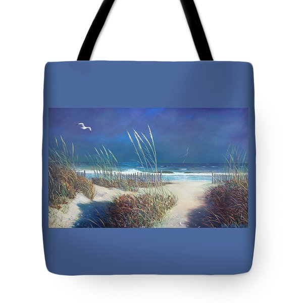 Storm At Sea Tote Bag by Blue Sky