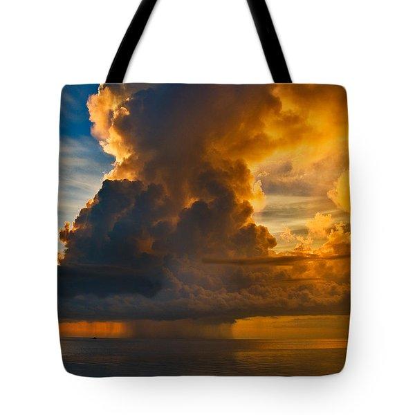Storm At Sea Tote Bag