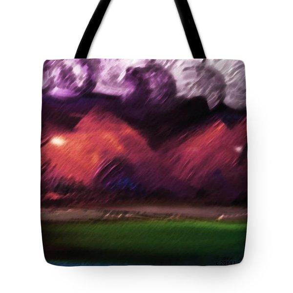 Storm At Sundown Tote Bag by Lenore Senior
