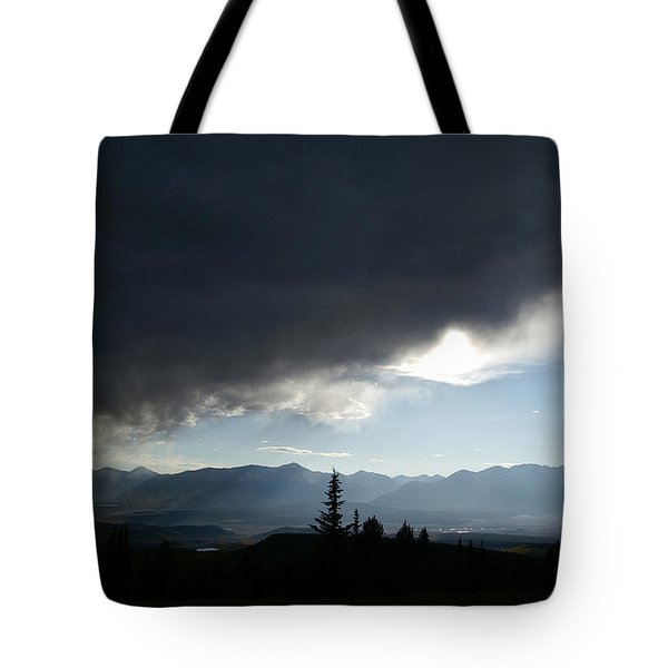 Storm Blows Over Tote Bag by Jeremy Rhoades