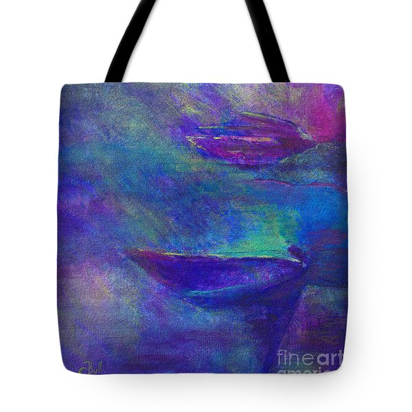 Storm Boats Tote Bag by Claire Bull
