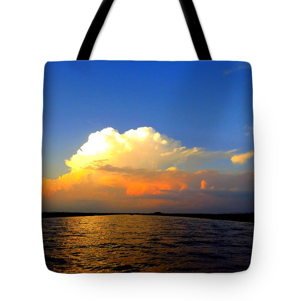 Tote Bag featuring the photograph Storm Clouds At Dusk by Phyllis Beiser