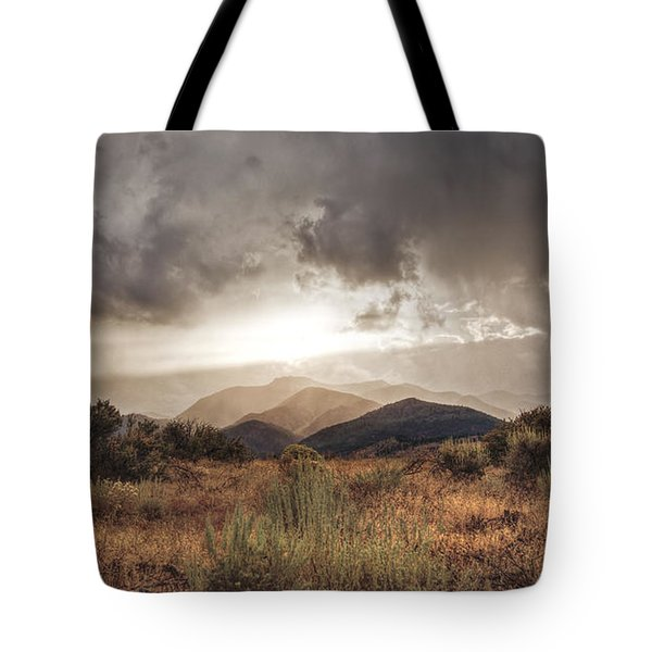 Storm Clouds Tote Bag by Dianne Phelps