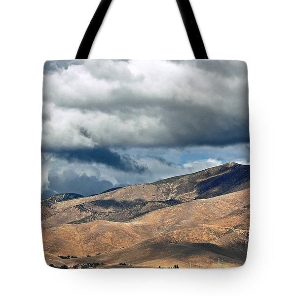 Storm Clouds Floating Above Mountains Tote Bag