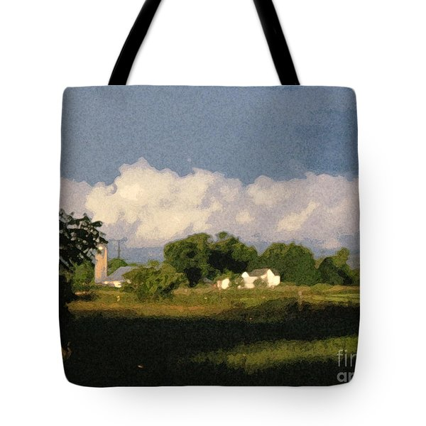 Storm Clouds Over Michigan Farm At Sunrise Tote Bag