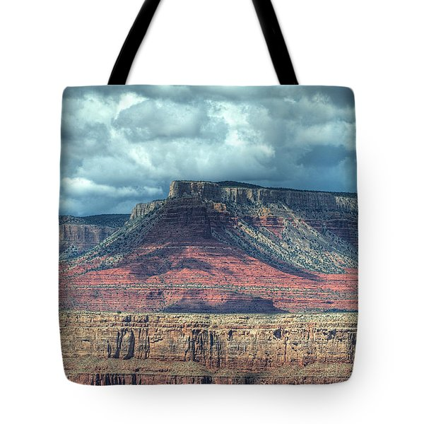 Storm Clouds Over Grand Canyon Tote Bag by Donna Doherty