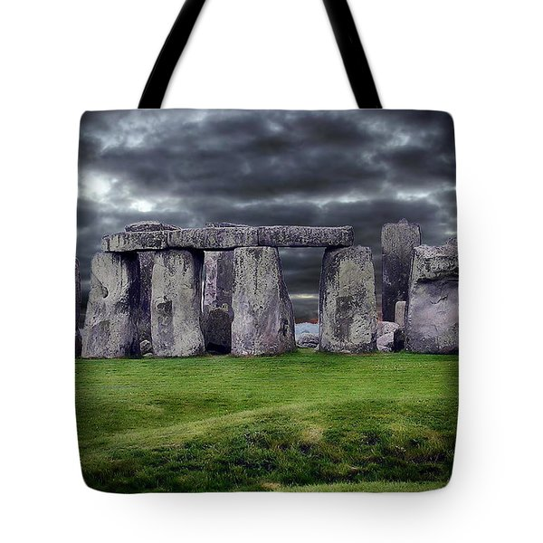 Storm Clouds Over Stonehenge Tote Bag by Anthony Dezenzio
