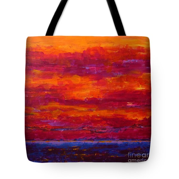 Storm Clouds Sunset Tote Bag