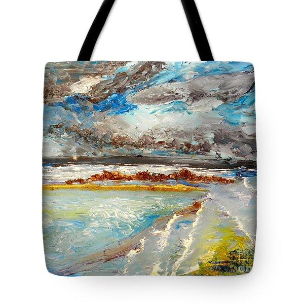 Storm Coming At Austinmer Beach Tote Bag
