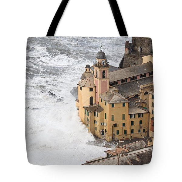 Tote Bag featuring the photograph Storm In Camogli by Antonio Scarpi